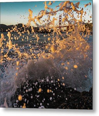 Sunset Splash Metal Print by Alpha Wanderlust