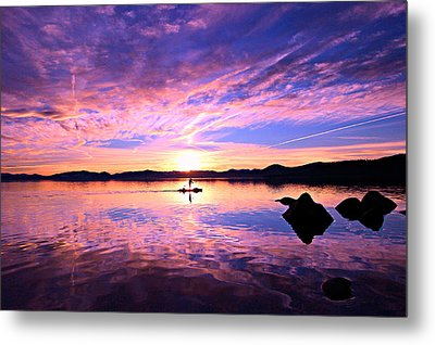 Sunset Supper Metal Print by Sean Sarsfield