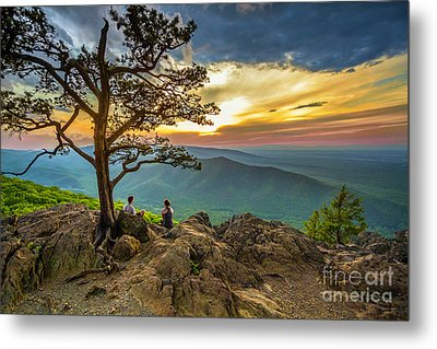 Sunset View At Ravens Roost Metal Print