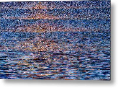 Sunset Waves Metal Print