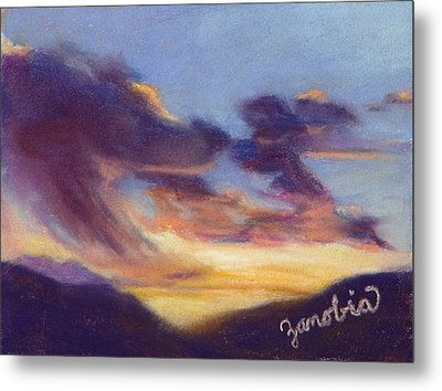 Sunset West Of Town Metal Print by Zanobia Shalks