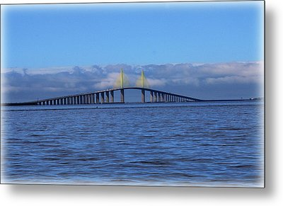 Sunshine Skyway Metal Print by Amanda Vouglas