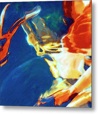 Metal Print featuring the painting Sunspot by Dominic Piperata