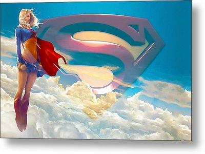 Supergirl Art Metal Print