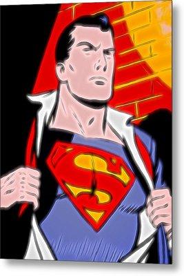 Superman Pop Art Metal Print by Dan Sproul