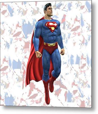 Superman Splash Super Hero Series Metal Print