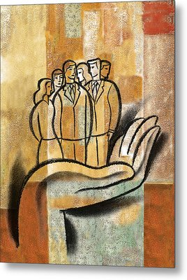 Support, Collaboration Metal Print