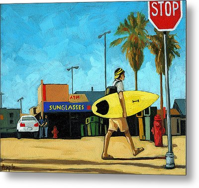 Surf And Turf - Oil Painting Metal Print