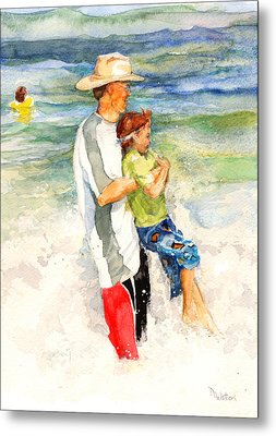 Surf Play Metal Print by Nancy Watson