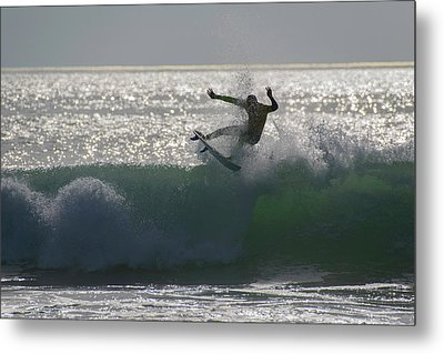 Surfing The Light Metal Print