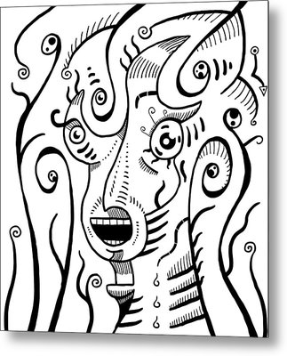Surreal Scream Metal Print