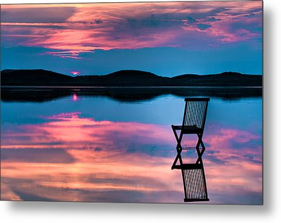 Surreal Sunset Metal Print by Gert Lavsen