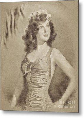 Susan Hayward, Vintage Actress By John Springfield Metal Print