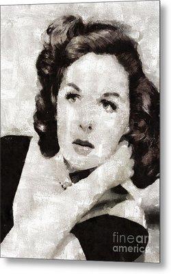 Susan Hayward, Vintage Actress By Mary Bassett Metal Print