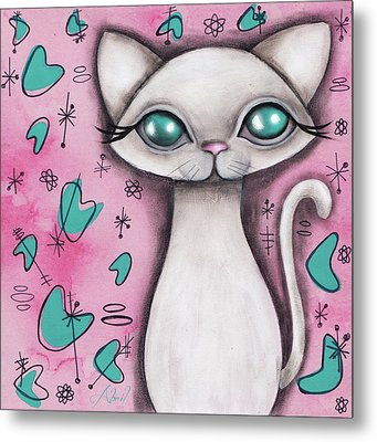 Susan  Cat Metal Print by Abril Andrade Griffith
