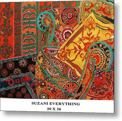 Suzani Everything Metal Print by Linda Arthurs