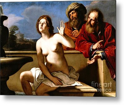 Suzanna And The Elders Metal Print by Pg Reproductions
