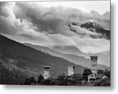 Metal Print featuring the photograph Svan Towers by Francesco Emanuele Carucci