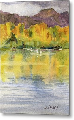 Swan Lake Metal Print by Kris Parins