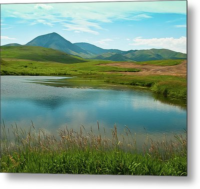 Sweetgrass Hills Fishing Hole Metal Print