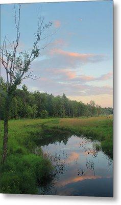 Swift River Sunset Metal Print by John Burk