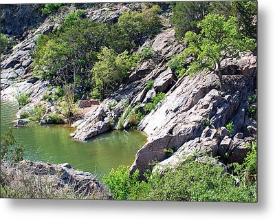 Metal Print featuring the photograph Swimming Hole by Teresa Blanton
