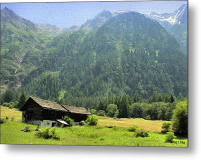 Swiss Mountain Home Metal Print