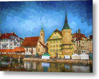 Swiss Town Metal Print by Pravine Chester