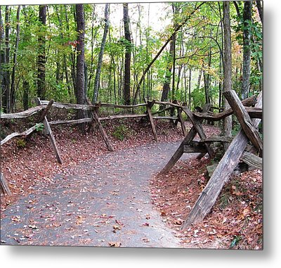 Switchback Walkway Metal Print by Suzanne  McClain