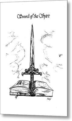Sword Of The Spirit Metal Print by Maryn Crawford