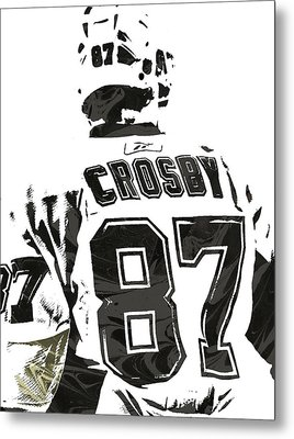 Sydney Crosby Pittsburgh Penguins Pixel Art 2 Metal Print