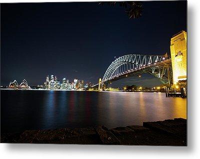 Sydney Harbour Silk Metal Print
