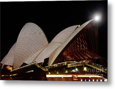 Metal Print featuring the photograph Sydney Opera House Close View 2 By Kaye Menner by Kaye Menner