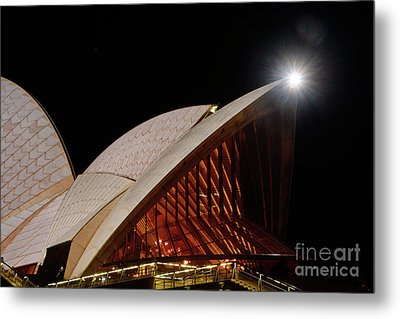 Metal Print featuring the photograph Sydney Opera House Close View By Kaye Menner by Kaye Menner