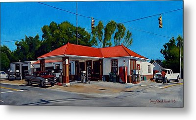 T. R. Lee Service Station Metal Print by Doug Strickland