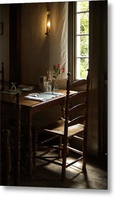 Table For Two Metal Print by Lee Fortier