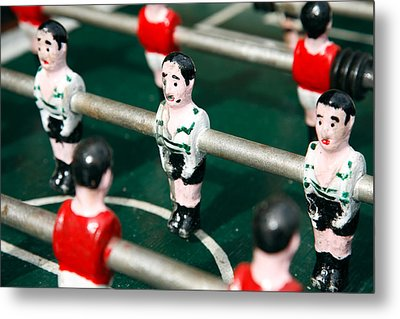 Table Soccer Metal Print by Gaspar Avila