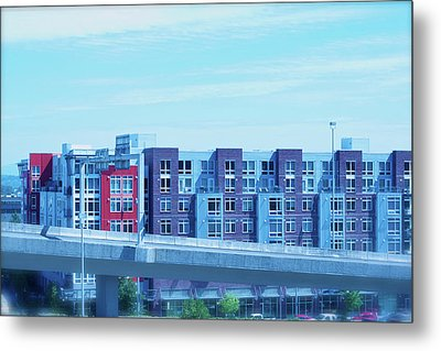 Metal Print featuring the photograph Tacoma Blues - Cityscape Art Print by Jane Eleanor Nicholas