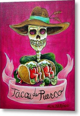Tacos De Puerco Metal Print