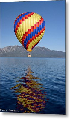 Metal Print featuring the photograph Tahoe Balloon. by Mitch Shindelbower