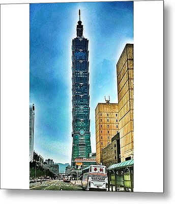 Taipei 101 (chinese: 台北101 / Metal Print by Tommy Tjahjono