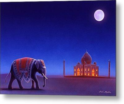 Taj Mahal Elephant Metal Print by Robin Moline