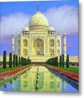 Taj Mahal Morning Metal Print