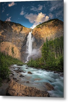 Metal Print featuring the photograph Takakkaw Falls Of Yoho National Park by William Lee