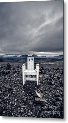 Metal Print featuring the photograph Take A Seat Iceland by Edward Fielding