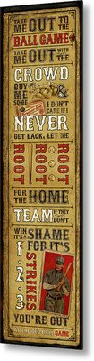 Take Me Out The The Ballgame Metal Print by Jeff Steed