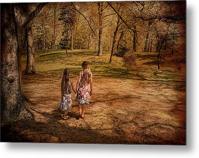 Take My Hand Metal Print by Robin-Lee Vieira