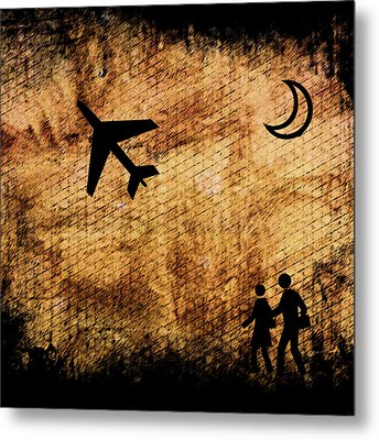 Take Off At Dusk Metal Print