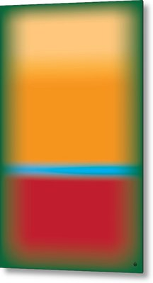 Tall Abstract Color Metal Print