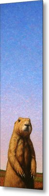 Tall Prairie Dog Metal Print by James W Johnson